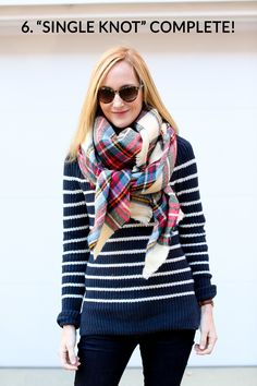 How to Tie a Blanket Scarf: 10 Ways – Kelly in the City