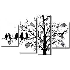 Quadro dipinto a mano in bianco e nero - una decorazione murale  molto elegante dedicata agli interni moderni.#quadro #quadrodipintoamano #dipintosutela #bianconero #black&white #decorazioni #arredo #homedecor