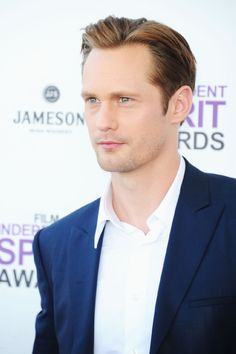 He is Soooooo yummy... I have a huge True Blood poster in a frame in my office......   :)