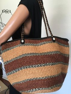 African Sisal Leather Bag Hip Straw Designer Fashion Bohemian Multicolor  | eBay
