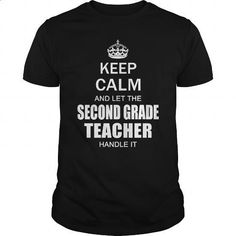 Keep Calm and let the second 2nd grade teacher handle it #teeshirt #hoodie. PURCHASE NOW => https://www.sunfrog.com/Jobs/Keep-Calm-and-let-the-second-2nd-grade-teacher-handle-it-Black-Guys.html?60505