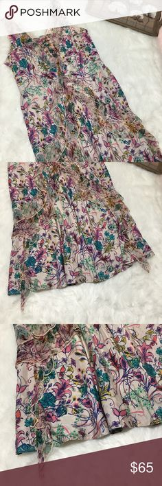 Sundance 100% Silk Floral Print Midi Dress Sz 12 Gorgeous size 12 Sundance 100% Silk Floral Print dress in excellent gently used condition. Great for all occasions! Perfect for work or a party! Sundance Dresses Midi