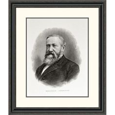 """Global Gallery 'Benjamin Harrison' Framed Painting Print Size: 32"""" H x 27.27"""" W x 1.5"""" D"""