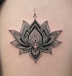 Tattoo Mandala Wrist Tattoo, Mandala Flower Tattoos, Lotus Flower Mandala, Lotus Tattoo, Foot Tattoos Girls, Wrist Tattoos For Women, Cat Tattoos, Tatoos, Lotus Flower Tattoo Design