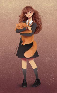 Hermione Art Print by C. Cassandra on S6