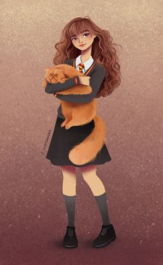 Hermione Art Print by C. Cassandra on S6- Harry Potter