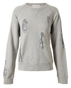 FILLES A PAPA   Sequin Embellished Cotton Sweatshirt   Browns fashion & designer clothes & clothing