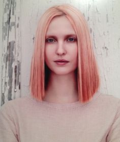 "Apricot ~ a ""pastelized"" version of copper, and it's kind of a combination of all the current hair trends–pastel, ombre, red–rolled into one."