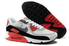 Nike Air Max 90 PREM TAPE Womens New Grey Red