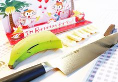 """Let's open a banana party today! I will cut a lot with """"GOUGIRI""""!  #chefknife #chefstuff #kitchenstuff #kitchentools #kitchenknife #kitchenware #kitchenset #kitchenstyle #cheflife #kitchenlife #chefs #chefstalk #cheftable #chefstyle #chefskills #chefsgallery #chefschoice #chefkitchen #cutlery #knives #culinary #homecooking #knifesale  #culinaryarts #chefsoninstagram Kitchen Knives, Kitchen Tools, Banana Party, Chef's Choice, Professional Chef, Chef Knife, Kitchen Sets, Wine Making, Culinary Arts"""