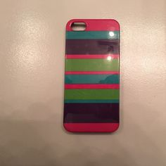iPhone 5 case Pink, blue, purple, and green stripped case! Accessories Phone Cases