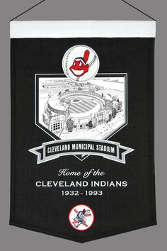 Cleveland Indians Wool Stadium Banner - Cleveland Municipal