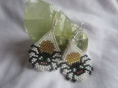 Boris The Spider Beaded Earrings by Celticoctopus on Etsy, £13.20