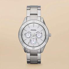 FOSSIL® Watch Styles Steel Watches:Women Stella Stainless Steel Watch ES3052