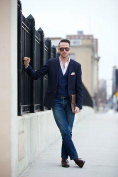 Blue Waistcoat Separate - He Spoke Style