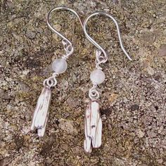 Rocket to the Moon Earrings, Sterling Silver Earrings , Fantasy Art Jewellery £45.00