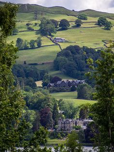 A view from Wray Castle near Ambleside, Lake District