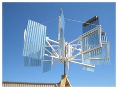 Alternative Energy - The Vertical Wind Turbine is the most efficient windmill design and can be built using simple materials. Mounted on the roof top, it can provide enough power to light an average home. Diy Solar System, Solar System Projects, Sistema Solar, Renewable Energy, Solar Energy, Vertical Wind Turbine, Solar Power Facts, Alternative Energie, Wind Power