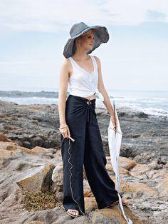 burda style summer pants 07/2012 #128.  love the waist details. $6.00