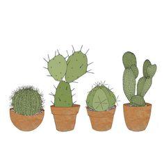 Cacti print by katebroughton on Etsy, £30.00
