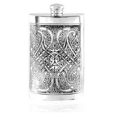 Celtic Knot Pewter Flask      martinpatrick3