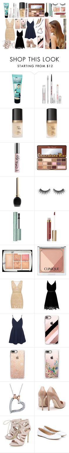 """3 to 1"" by aliciadelgado on Polyvore featuring moda, Benefit, Too Faced Cosmetics, Guerlain, Huda Beauty, Stila, Hourglass Cosmetics, Clinique, Nicole Miller y Miss Selfridge"