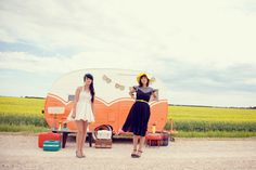A dream to have a retro caravan selling vintage clothing etc from