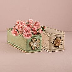 Vintage Inspired Ornate Box with Decorative Pull from Weddingstar Inc.