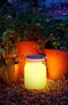Solar powered sun jar