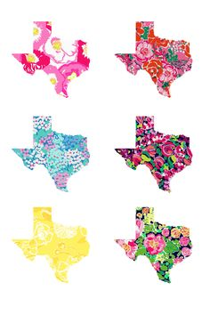 texas in lilly prints (even though I live in Florida)