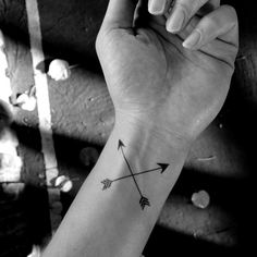 2pcs Cross arrow tattoo - InknArt Temporary Tattoo - wrist quote... ($2.99) ❤ liked on Polyvore featuring accessories, body art, tattoos and icons