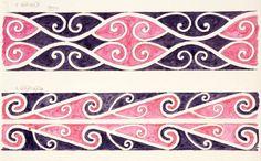 Godber, Albert Percy, :[Drawings of Maori rafter patterns]. Maori Patterns, Maori People, Maori Designs, Henna Body Art, Maori Art, Design Basics, Painting Patterns, Sketchbooks, Art Lessons
