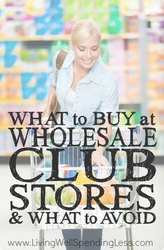 Are big box clubs really worth the price of membership? Get the skinny on which items will actually save you money at stores like Sam's Club, Costco, & BJs.  This detailed post shares the secrets of what to buy at wholesale club stores (as well as which items to avoid!)