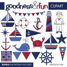 Free Nautical Clip Art | Illustrations & Cliparts - Nautical Fun - MYGRAFICO - DIGITAL ARTS AND ...