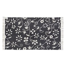 """Decorate one of your rooms in your home with a floral theme and use our Cordova Rectangle Rug 36x60"""" to bring interest and warmth! https://www.primitivestarquiltshop.com/products/cordova-rectangle-rug-36x60 #primitivecountryrugs"""