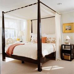 Dark Wood Canopy Bed canopy bedlove them and that is why we have one! | for the home