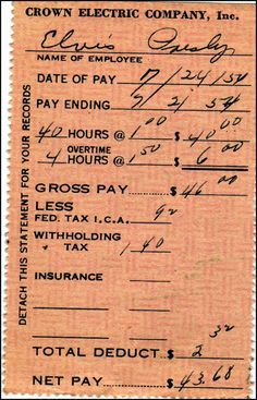 Before Elvis was the King of Rock 'n' Roll, he was a truck driver. A pay stub from that job is in Graceland's Archives.