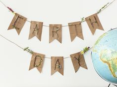 Earth Day Banner | Use the @Cricut® Explore to create Earth Day Decorations