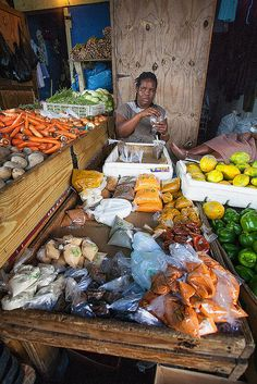 Spice Vendor, Port Antonio Market, Port Land, JAMAICA, (