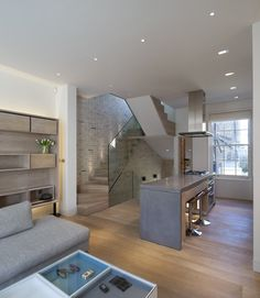 Butterfly Loft Apartment, London, 2011 by Tigg + Coll Architects #architecture #design #stair #glass