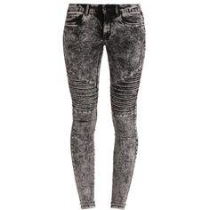 Coole Jeans mit Acid Waschung in grau von Only. Die gesteppte Partie auf der Vorderseite macht diese Jeans besonders stylish! - ab 39,95 €