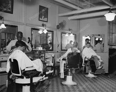 Barbers Working 1937 Vintage 8x10 Reprint Of Old Photo Barbers Working 1937 Vintage 8x10 Reprint Of Old Photo This is an excellent reproduction of an old photo. Reproduced photo is in mint condition.
