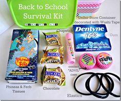 DIY locker accessories survival kit contents