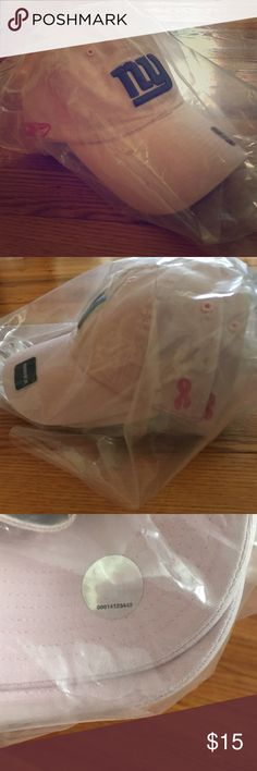 NWT Reebok NY Giants football cap Breast Cancer NWT Reebok NY Giants Pink Football Cap with Breast Cancer Awareness logo Reebok Accessories Hats