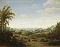 Frans Jansz Post | Landscape on the Rio Senhor de Engenho, Brazil, Frans Jansz Post, 1670 - 1680 | Braziliaans landschap bij de rivier Senhor de Engenho. In het midden een huis met een toren. Pendant van SK-A-2333.