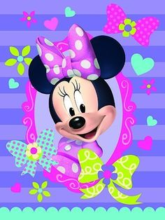 Disney The Northwest Company Minnie Mouse Bow-Tique Super Plush Throw, 46 by Minnie Mouse Cartoons, Minnie Mouse Pictures, Mickey Mouse Images, Mickey Mouse And Friends, Mickey Minnie Mouse, Disney Cartoons, Mickey Mouse Wallpaper, Cartoon Wallpaper, Disney Wallpaper