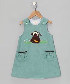 Take a look at this Aqua Monkey Jumper - Toddler by Rosalina on #zulily today!
