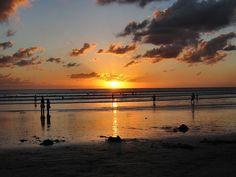 Sunset at the beach. Kuta Beach, Evening Sunset, I Want To Travel, Bali Travel, Heaven On Earth, Sunrises, Heavens, Dream Vacations, Night Life