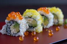 Before my children were old enough to enjoy real sushi, we usually ordered California roll for them instead.  My son in particular loves avocado so it's one of his favorite sushi still.  California roll is easy to prepare and a fun family project.  Just remember to cover up the rice and don't leave finished rolls exposed.  The sushi rice dries very quickly and it won't taste very good.