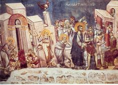 The frescoes of the cathedral Protata in Kars, Athos. Part II Life Of Christ, Orthodox Icons, Byzantine, Fresco, Holi, Cathedral, Saints, History, Painting